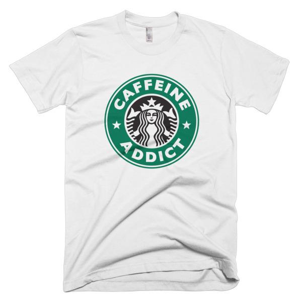 Caffeine Addict Starbucks t-shirt - menandcoffee